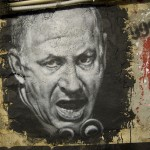 Anti-Netanyahu mural in France, 2012. Click to enlarge