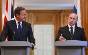 Joint Putin Cameron news conference. Click to enlarge