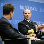 Official U.S. Navy Imagery - The CNO speaks to moderator Michael O Hanlon at the Brookings Institute about the Air-Sea Battle concept. Click to enlarge