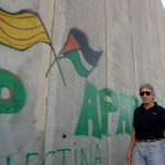 Roger Waters by Israel's Apartheid Wall. Click to enlarge