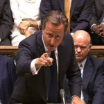 British Prime Minister David Cameron speaks during an earlier parliamentary debate over Syria in whixh he argued for direct militart intervention. Click to enlarge