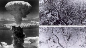 Nagasaki before and after US nuclear strike. Click to enlarge