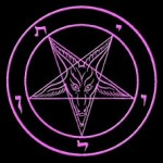 The logo of the Church of Satan – the Sigil of Baphomet – consists of an inverted pentacle with the goat of Mendes.
