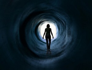 Many of those who have had a Near Death Experience report traveling up a tunnel towards light. Click to enlarge