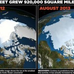 Record return of Arctic ice cap as it grows by 60% in a year