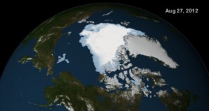 Arctic ice cap on 27 August 2012. Click to enlarge