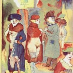 Georg Grosz, Before Sunrise. Prostitutes and their clients in the red-light district… this is how they actually dressed and paraded themselves in the garish, lamp-lit streets.