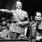 Hitler sent his deputy,  Rudolf Hess (right), as his personal representative claims new book. Click to enlarge