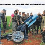 Syrian rebels chemical weapon artillary canister. See video links below
