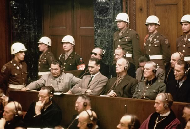 The Nuremberg show trial.