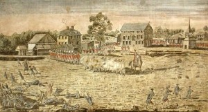 1775 depictions show Americans being slaughtered. No one is even firing back. Click to enlarge
