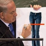 Netanyahu was mocked by the Iranians after he suggested the hip youth of Tehran were not allowed to wear jeans. Click to enlarge
