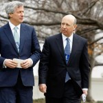 BANKING VULTURES: JP Morgan Chase CEO Jamie Dimon, left, and Goldman Sachs CEO Lloyd Blankfein – meeting with Obama in violation of Antideficiency Act.