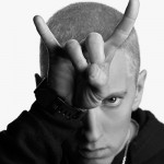 This is the current promotional image of Eminem. One eye and devil horns. That the type of stuff you have to do to be able to stay relevant and get exposure in this business. Especially if you're signed with Interscope Records. Click to enlarge