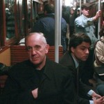 Archbishop Bergoglio signals his Masonic affiliation while riding a tram in Buenos Aires. Click to enlarge