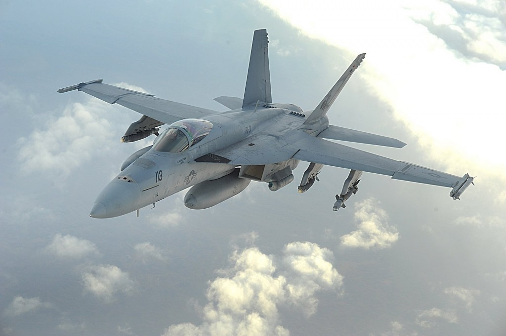 F-18 Super Hornet. Click to enlarge