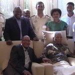 Nelson Mandela pictured the then ANC leadership in April 2013, shortly before he passed away. Click to enlarge