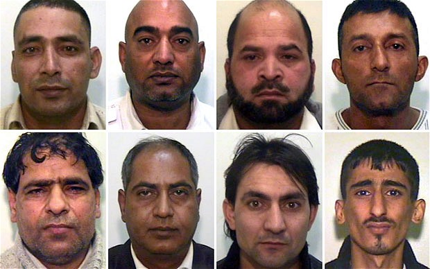 Men convicted of grooming underage white girls for sex in nearby Rochdale. Click to enlarge