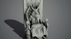 Planned statue of Satan at the Oklahoma capitol. Click to enlarge