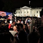 American dupes celebrate Osama Bin Laden's supposed death outside the White House Sunday, May, 1 2011. Click to enlarge