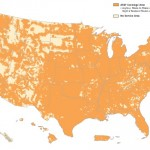 At & T cell phone coverage cap: The map shows AT&T coverage areas in orange. If you live inside an orange area, you are currently exposed to cell tower radiation.