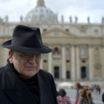 US cardinal Leo Raymond Burke walks on St Peter's square. Click to enlarge