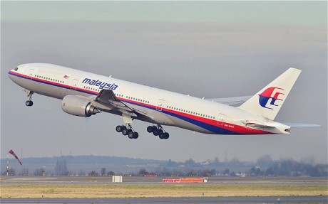 Malaysian Airlines Boeing 777, Flight MH370, disappeared from radar.