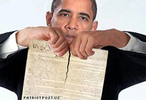 Obama shredding-the-constitution. Click to enlarge