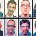 The 12 members of a suspected Israeli assassination team whose photos appeared in forged British passports. Click to enlarge
