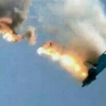 The moment the Syrian Mig 23 went down. Click to enlarge