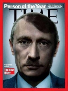 Putin Demonised as the new Hitler. Click to enlarge