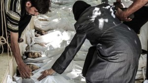 A UN report says sarin was used in a rocket attack in Damascus in August 2013. Click to enlarge