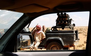 Jihadist fighter near Libyan base of 27. Click to enlarge