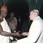 Pope John Paul II told the Voodoo priests of Benin, Africa, that their traditions contain 'seeds of the word'. Click to enlarge