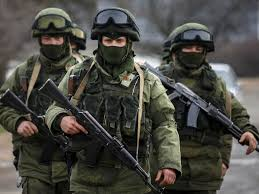 Russian troops pictured on manoeuvres in the West of the country during the recent crisis in Ukraine
