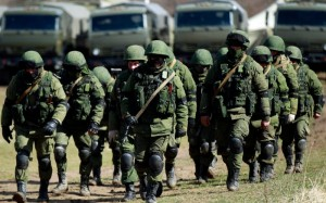 Russian troops on 'exercises' near the border with Ukraine recently. Click to enlarge