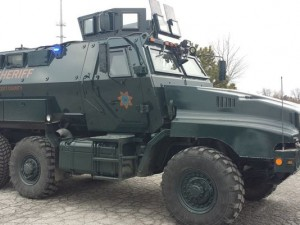 Scott County received its MRAP last year. Click to enlarge