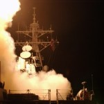 USS Donald Cook launches cruise missiles. Click to enlarge