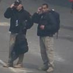 Were these two men seen using ear-phones and carrying large black backpacks near the finish line of last year's Boston Marathon working for Craft International?  One thing is certain:  Craft does not want to answer this question. Click to enlarge
