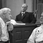 In the movie, Clarence Darrow, played by Spencer Tracy, interrogates William Jennings Bryan, played by Frederic March. Click to enlarge