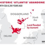 Doggerland: the North Sea 8,200 years ago. Click to enlarge