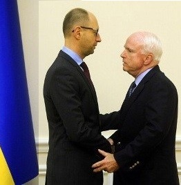 Prime Minister Yatsenyuk meeting with McCain