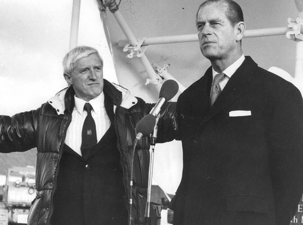 Savile and the Duke of Edinburgh at Stoke Mandeville Hospital, where Savile carried out many of his crimes. Click to enlarge