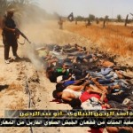 The bodies of Iraqi soldiers lie face down after allegedly being executed by the ISIS militants. Click to enlarge