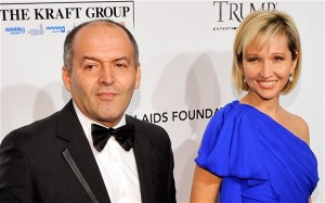 'Philanthropist' Victor Pinchuk and wife Elena. Click to enlarge
