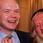 Jimmy Savile and a younger William Hague, currently serving as British Foreign Secretary. Click to enlarge