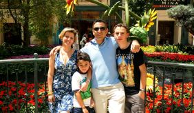Carol Kasbari with her husband Osama and two sons