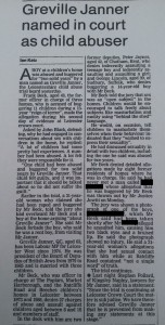 1991 newspaper report on Frank Beck's trial. Click to enlarge