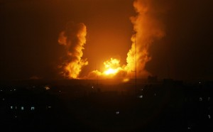 Israeli air strike in Rafah. Click to enlarge
