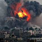 Israeli bombardment of Gaza. Click to enlarge